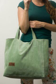 Leather bag Jukova julia Купить Mint Tote Кожаная сумка мятный тоут из натуральной кожи спилок 22817 - мятный