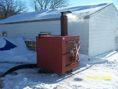 How To Build A Outdoor Woodstove Boiler Complete Wood Plans Furnace