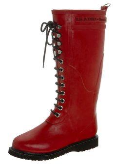 b1a6a666120 Bottes de pluie Ilse Jacobsen Bottes en caoutchouc naturel - red rouge   68
