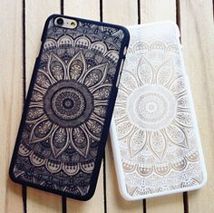 Cell Phone Cases - Cell Phone Cases - New Rubberized Henna Paisley Mandala Hard Case For iPhone 6 6 Plus SE 5 in Cell Phones Accessories, Cell Phone Accessories, Cases, Covers Skins Cute Phone Cases, Iphone 6 Plus Case, Iphone Phone Cases, Mobile Phone Cases, Bff Cases, Phone Covers, Paisley, Iphone 7 Plus Funda, Floral Iphone Case