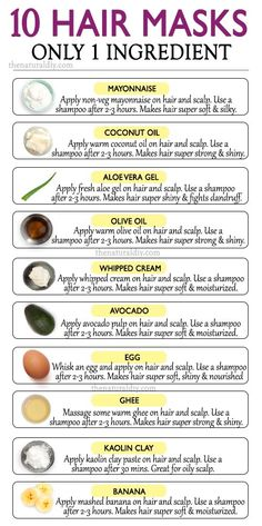 10 1-INGREDIENT NATURAL HAIR MASKS - The Natural DIY