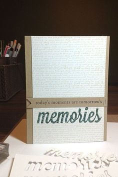 Today's Moments Card by Heather Nichols for Papertrey Ink (April 2013)