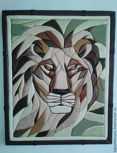 """Купить Картина """"Лев"""" - комбинированный, картина в подарок, картина, картина для интерьера, картина на заказ"""