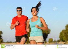 Sport Couple Running Royalty Free Stock Image - Image: 33367926