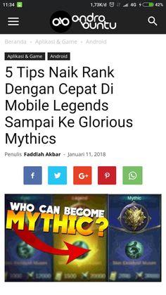 Berikut ini adalah tips untuk naik Rank dengan cepat di Mobile Legends. Bahkan sampai ke Glorious Mythics. Baca selengkapnya di androbuntu.com