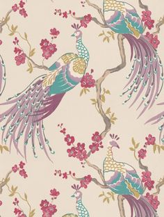 Clarke and Clarke's Indira Damson is taken from the Showstoppers wallpaper collection and is in stock and available for purchase.