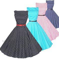 2013 New Fashion Women Maggie Tang 50s 60s Swing Polka dot Dress Pinup Vintage Rockabilly Retro 533 Free Shipping US $39.99
