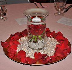 red rose centerpiece - Buscar con Google