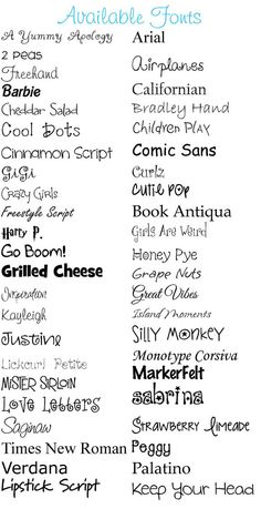 Kids Fonts Have Most Of These But Love Cheddar Salad