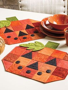 Quilting for Autumn Pumpkins More