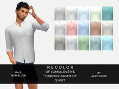 Forever Summer Shirt Recolors for Males