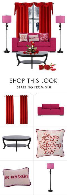 """Pink & Red"" by aharcaki on Polyvore featuring interior, interiors, interior design, home, home decor, interior decorating, I Love Living and Possini Euro Design"