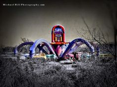 Mike Hill 12:39 PM The Octopus. Taken at the abandoned Six Flags theme park in New Orleans
