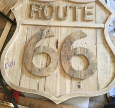 Route 66 wooden sign x Great piece for the Rustic Car lover. Route 66 Sign, Recycled Wood, Wooden Signs, Wood Art, Recycling, Etsy Seller, Rustic, Black And White, The Originals