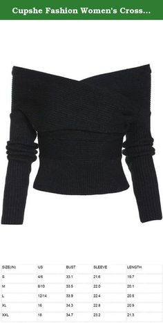 Cupshe Fashion Women's Cross Front Plunging Ribbed Hem Casual Knitting Sweater (S, Black). About Us CUPSHE FASHION is an international online fashion and beauty retailer, we always strives to provide ladies with something stylish and charming in clothing, accessories aged from 15 to 35 years old. Our products are featured with bikinis, rompers, dresses, matching sets , accessories as well as pants. CUPSHE FASHION team are willing to work with you to offer you the unparalleled outfit. User...
