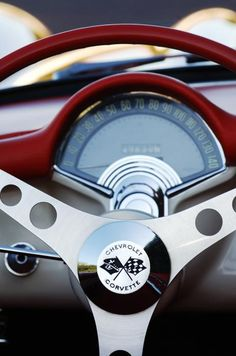 1957 Chevrolet Corvette Convertible Steering Wheel Photograph by Jill Reger - 1957 Chevrolet Corvette Convertible Steering Wheel Fine Art Prints and Posters for Sale