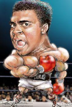 Caricature: Muhammad Ali