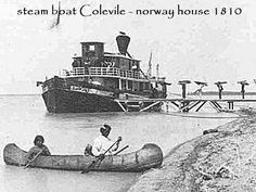 steam boat Colevile - norwayhouse 1810 Norway House, Steam Boats, River, Rivers