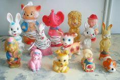 Vintage rubber toys