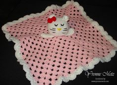 Crocheted Baby Kitty Lovey or Security Blanket by KraftsbyYvonne, $30.00
