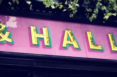 Pentreath and Hall / love this hand painted sign by Ged Palmer. via It's Nice That #handpainted #sign #typography