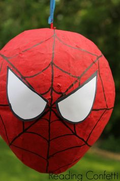 DIY Spiderman Party ~ Reading Confetti