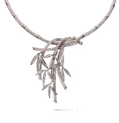 Collar Bambu Necklace in white gold and diamonds - Carrera y Carrera - http://www.carreraycarrera.com/en/home