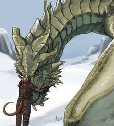 yinza,Партурнакс,TES Персонажи,The Elder Scrolls,фэндомы,Довакин,TES art,Skyrim