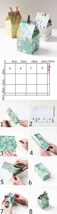 Gấp giấy thành 3 kiểu hộp đựng đồ xinh xắn tiện lợi 3