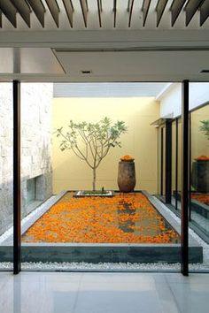 Outdoor design courtyard