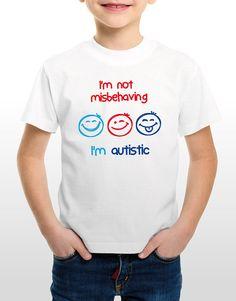 Autism T-Shirt I'm not misbehaving i'm Autistic AUTISM DIAMOND