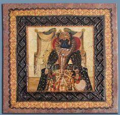 French Bulldog as Queen Elizabeth art artwork