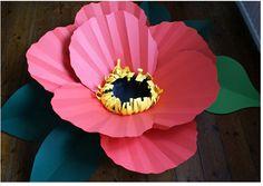 DIY Tutorial Flower Crafts / DIY paper flowers by Brittany - Bead&Cord Large Paper Flowers, Giant Paper Flowers, Diy Flowers, Flower Diy, Spring Flowers, Art For Kids, Crafts For Kids, Diy Fleur, Papier Diy