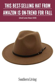 If there's one thing we've learned in the age of online shopping, it's that an Amazon bestseller with over a thousand 5-star reviews is a surefire winner. And the Lisianthus Women Belt Buckle Fedora Hat seems to be no exception to our general rule. #fallfashion #fallhats #bucklehat #fedora #southernliving Southern Fashion, Southern Style, Fall Hair Trends, Fall Hats, Hats Online, Fedora Hat, Belts For Women, Belt Buckles, Best Sellers
