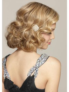 It's wedding season! A #fauxbob is a cute and chic style to beat the heat and adds glamour to the special day!