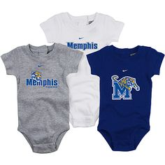 Nike Memphis Tigers New Born Boy's 3 Pack Creeper - NFLShop.com - uh - girls can wear this! geez!
