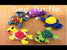 1 LOOM Sea Turtle with 3D shell - MarloomZ Creations