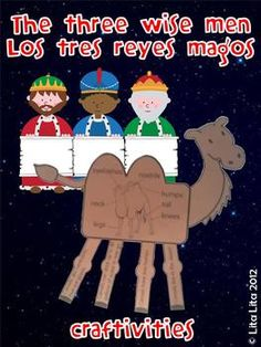 The Three Wise Men and Camel craftivity English & Spanish