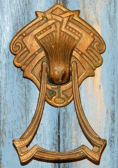 Art Deco door knocker.