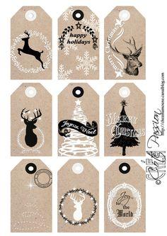 ☆...☆...☆... ........................... Côté Passion Christmas tags 2015