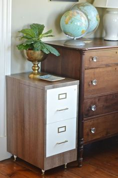 file cabinet flip chalk paint home office organizing painted furniture repu Ikea Coffee Table, Coffee Table Design, Rental Home Decor, Diy Home Decor, Room Decor, Home Office Furniture, Home Office Decor, Ikea Office, Office Ideas