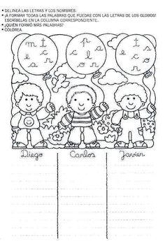 Mi primer etapa escolar : Fichas de apoyo para fortalecer la lectura y escritura Elementary Spanish, Spanish Lessons, English Class, Literacy, Language, Snoopy, Letters, Education, Reading