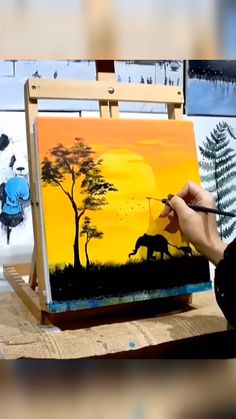 Canvas Painting Tutorials, Diy Canvas Art, Painting Techniques, Wow Art, Cool Art Drawings, Cool Paintings, Looks Cool, Art Tutorials, Cute Art