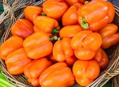 Peppers, Bell, Orange, Yellow, Vegetable