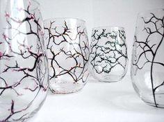 Four Seasons Stemless Wine Glasses-Set of Four