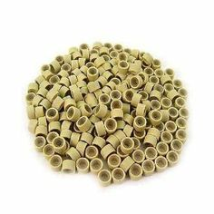 Objective 200 Pcs 5mm Blonde Color Silicone Lined Micro Rings Links Beads Linkies For I Bonded Tipped Hair Extensions Beauty & Health Hair Care & Styling
