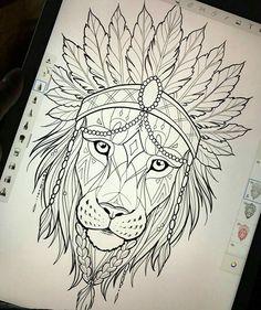 Tattoo Sketches, Tattoo Drawings, Drawing Sketches, Art Drawings, Lion Tattoo Design, Henna Tattoo Designs, Kunst Tattoos, Body Art Tattoos, Stormtrooper Tattoo