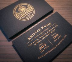 Copper Kettle Mexican Chocolate Stout business cards by Emrich Design.