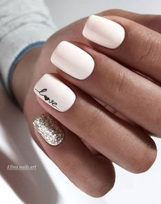 100 Trendy Stunning Manicure Ideas For Short Acrylic Nails Design - Page 96 of 101 Free patte. : 100 Trendy Stunning Manicure Ideas For Short Acrylic Nails Design - Page 96 of 101 Pink Wedding Nails, Wedding Nails Design, Pink Nails, My Nails, Nail Designs For Weddings, White Nails With Glitter, White Shellac Nails, Wedding Nails For Bride Natural, White Manicure