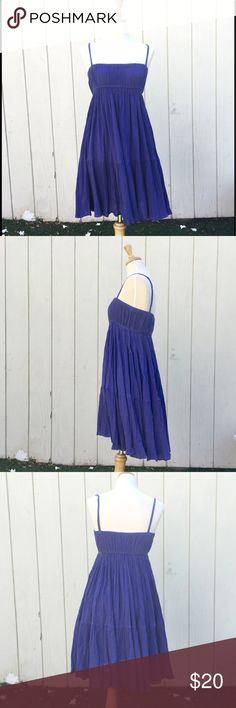 """Zara babydoll dress EUC. Tons of gathers, so it gets very flowy. It's hard to capture the real color, but it's dark lavender. Elastic bands on top of the bust and under. No lining. Above the knee length. It's XS, but it'll fit small too.                                       **Torso size: women's medium, height about 5'7"""", chest 34, waist 25, hip 35, shoulder to shoulder 15 1/2** Zara Dresses"""